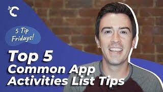 youtube video thumbnail - 5 Common App Activities List Tips
