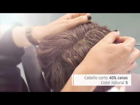 Ang krus na seksyon ng mga dulo ng hair treatment