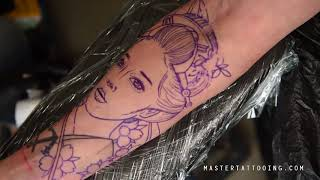 How To Tattoo A Japanese Geisha Part 1
