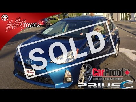 (SOLD) 2012 Toyota Prius C Tech Pkg Preview, For Sale At Valley Toyota in Chilliwack B.C. # 16588A