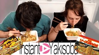 Allie and Jhonny Eat Instant Yakisoba