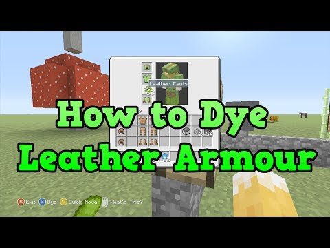 Minecraft Xbox 360 + PS3: How To Dye Leather Armour