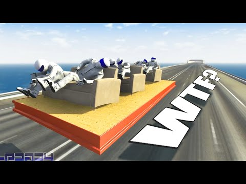 BeamNG DRIVE - WTF??? #4 - Epic Funny Bizarre Moments