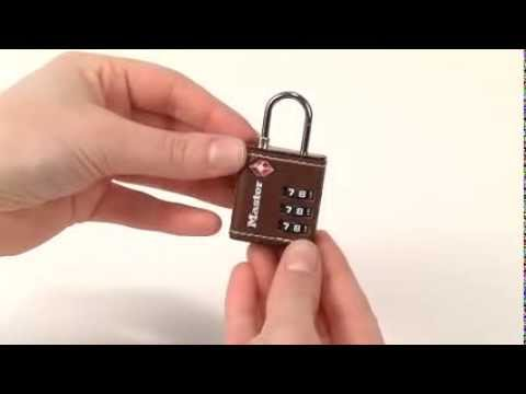 Operating the Master Lock 4692EURDBRN TSA-Accepted Combination Luggage Lock