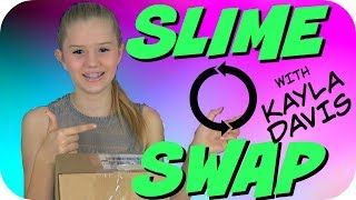 BEST FRIEND SLIME SWAP REVIEW || KAYLA DAVIS SLIME || Taylor and Vanessa