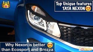 Top 10 Unique Features of Tata Nexon | Reason to Buy Tata Nexon over Ecosport and Vitara Brezza