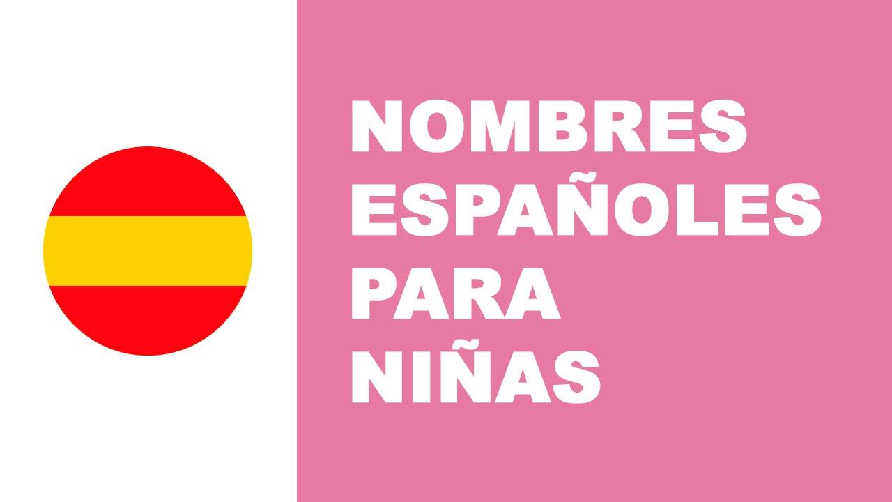 Nombres españoles para niñas