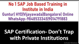 SAP Certification|Don't Trap with Private Institutions|SAP FICO Tutorial