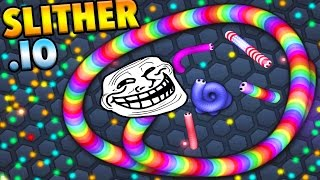 Slither.io - TROLLING As The Biggest Snake! Slither.io Gameplay (Slither.IO)
