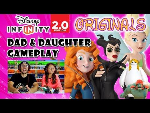 Dad & Daughter play Disney Infinity 2.0 ORIGINALS: Maleficent ...
