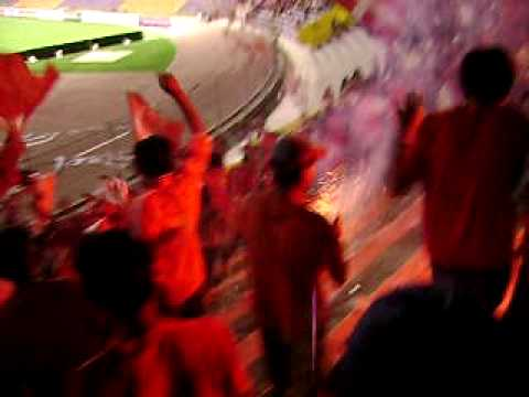 """DIABLOS ROJOS Quinto Barrio bolo vs flam Tacna 2008"" Barra: Diablos Rojos Tacna • Club: Coronel Bolognesi"