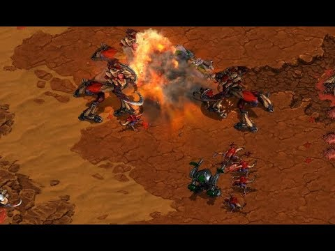 Flash (T) v Zero (Z) on La Mancha - StarCraft  - Brood War REMASTERED