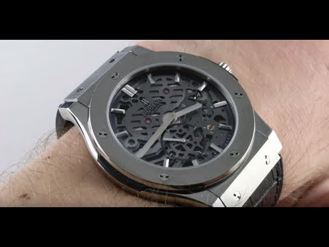Pre-Owned Hublot Classic Fusion Ultra Thin Skeleton 515.NX.0170.0LR Luxury Watch Review
