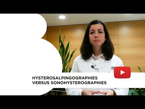 Hysterosalpingographies vs sonohysterographies