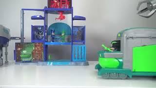 Pj Masks Toys Videos Compilations! Giant Surprise Toys Headquarters Playset Owlette, Gekko, Catboy