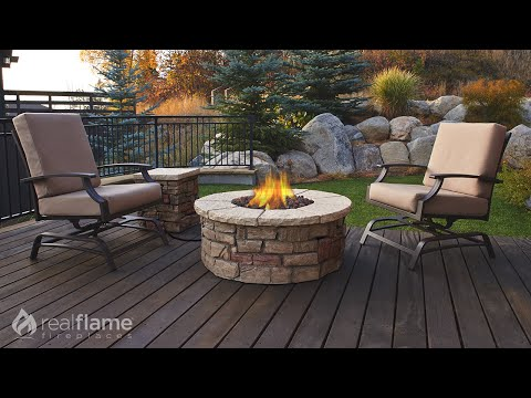 Real Flame - Sedona Round Propane Fire Table