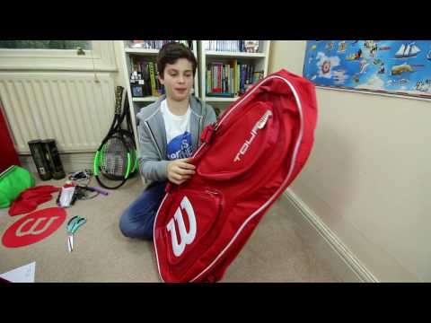 #52 New 2017 Wilson Tennis Bag check with Felix - tennis Brothers 2017
