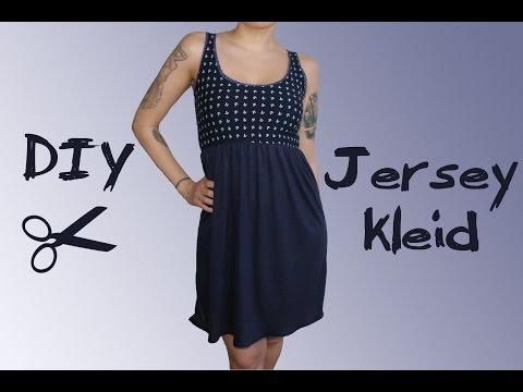 Jerseykleid mit Spitze nähen - DIY Tutorial / Nähanleitung
