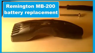 Remington MB-200 trimmer DIY Battery replacement (rechargeable)