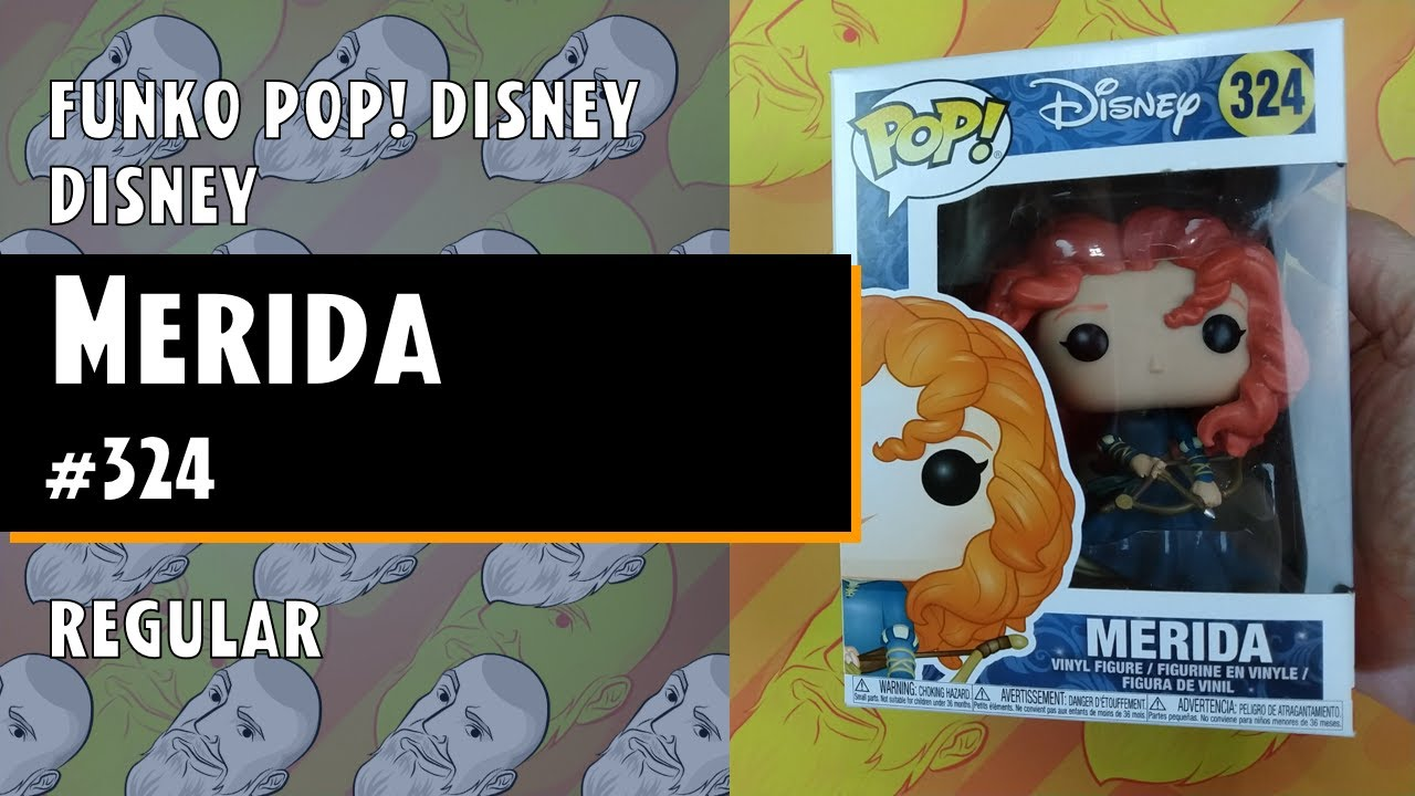 Boneco-Disney Merida Filme Série Original Merida #324 FUNKO DISNEY Pop