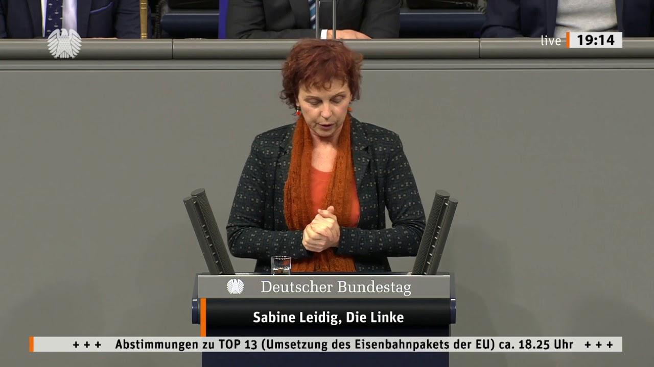 Rede von Sabine Leidig am 16. Januar 2020 im Deutschen Bundestag zum Thema »United European railways« statt Konkurrenz der Eisenbahnen