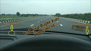 How to Judge Car Left and Right Side Gap   Car Driving Beginners