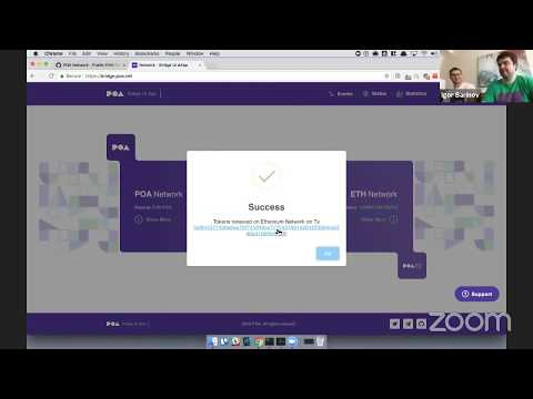 LIVE: Demonstrating POA Network Bridge – 1,200,000 Tokens!!! Feat. Igor Barinov (@barinov)