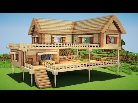 Minecraft How To Make A Wooden House Tutorial Thumbs Up Subscribe For More Http Goo Gl Q4attd