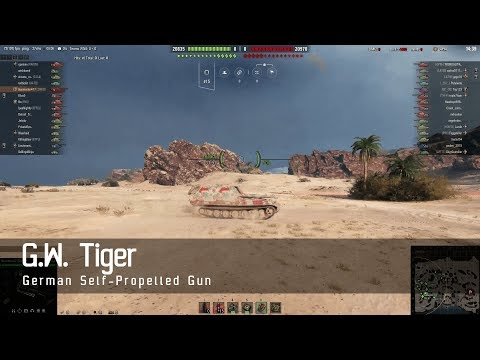World of Tanks – German Tech Tree - Self Propelled Gun – GW Tiger – Airfield