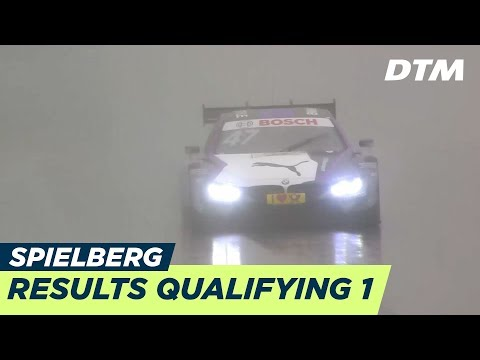 Heavy rain & Red Flag: Results & Highlights Qualifying 1 - DTM Spielberg 2018