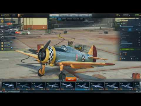World Of Warplanes. Curtis XP-36F. Review And Gameplay.