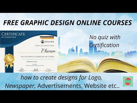 Online Free Graphic Design Course | Educba ... - YouTube