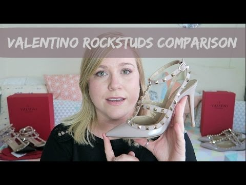 Valentino Rockstuds Comparison | Sling back, kitten, ballerina | Plus size/wide feet