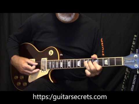 Blues guitar Riff 2 in A. Guitar chords A7 D7 E7