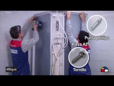 Instala una cabina para ducha con radio