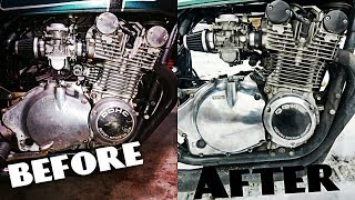 How To: Polish Your Dirty Old Motorcycle Engine |GS850#13|