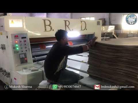 Corrugated Card Board Box Packaging Machine