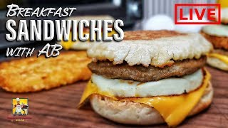 Breakfast Sandwiches | #BreakfastwithAB | LIVE