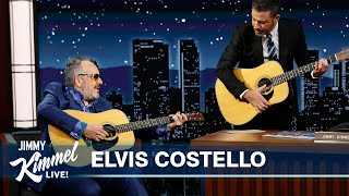 Elvis Costello Gives Jimmy Kimmel a Guitar Lesson