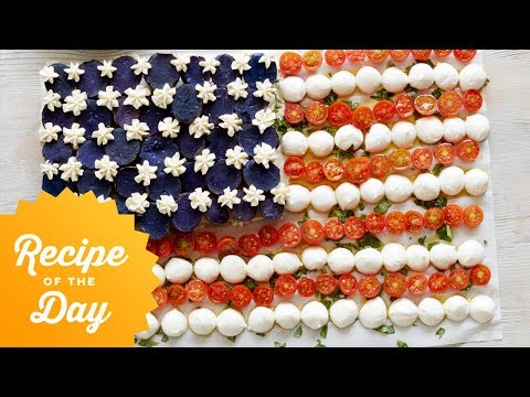 Recipe of the Day: American Flag Caprese Salad | Food Network
