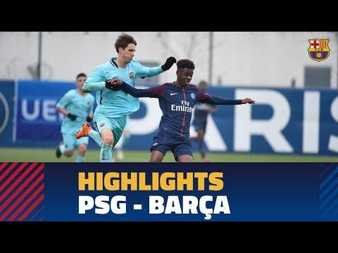 ПСЖ U19 - Барселона U19 0:1. Видеообзор матча 20.02.2018. Видео голов и опасных моментов игры