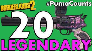Top 20 Best Legendary Guns and Weapons in Borderlands 2 #PumaCounts