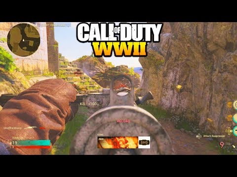 "*NEW* STEN DLC WEAPON GAMEPLAY CALL OF DUTY WW2! NEW WINTER SIEGE DLC GUNS ""COD WW2 STEN GAMEPLAY"""