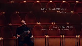 Simone Gramaglia - HINDEMITH Sonata for Solo Viola Op. 25 No. 1