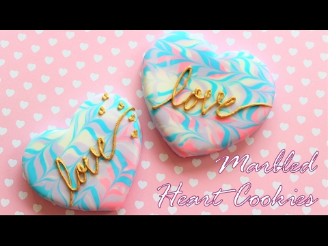 Valentine's Day Marbled Heart Cookies