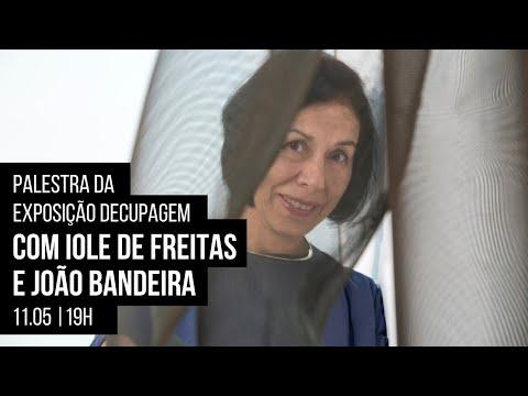 Palestra da exposição Decupagem com Iole de Freitas e João Bandeira