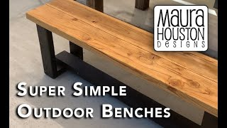 Super Easy DIY Outdoor Benches