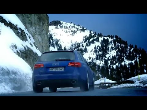 Audi RS6 Vs Para-skier: French Alps Race (HQ) | Top Gear | BBC