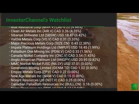 InvestorChannel's Palladium Watchlist Update for Friday, M ... Thumbnail
