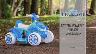 Frozen II Battery Ride-on Bubble Quad | Huffy